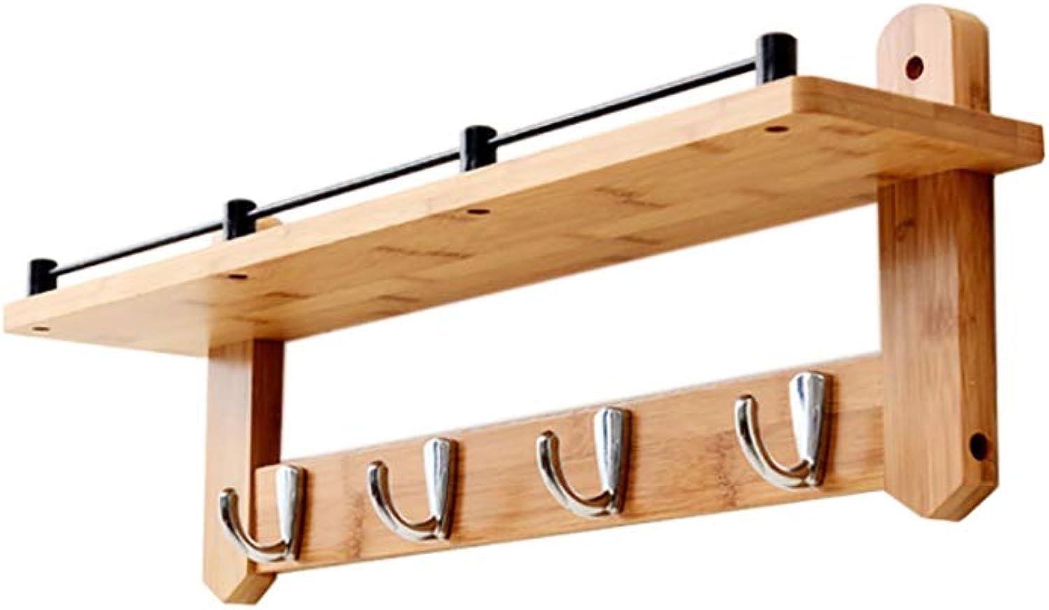 Coat Rack Bedroom Solid Wood Coat Rack Wall Hanger Living Room Storage Hook (Size   56  12  20cm)