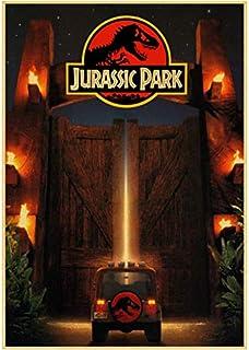 brandless Carteles De Cine Jurassic Park Estilo Vintage Pegatinas De Pared Impresiones Cartel De Pared Pintura Bar Sala De Estar Decoración Regalo 40 × 60Cm Sin Marco