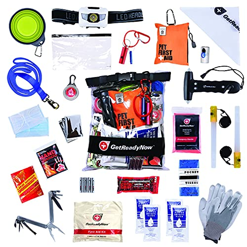 GetReadyNow | Pup & Peeps Emergency Kit | Essential First Aid and Deluxe Supplies to Keep You and...