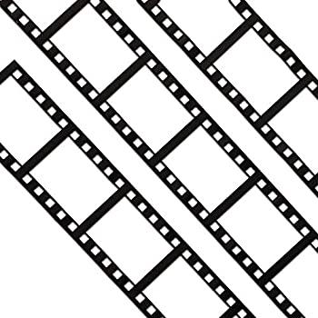 Blue Panda Black and White Filmstrip Decorating Tape 2.5 Inch x 20 Feet – Pack of 6