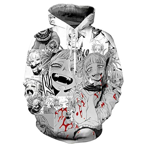 My Hero Academia Hoodie Himiko Toga Cosplay Costume Sweatshirt Pullover Jacket Hooded Shorts Unisex