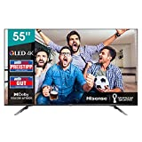 Hisense 55E76GQ QLED 139cm (55 Zoll) Fernseher (4K QLED, Smart TV, Triple Tuner, HDR 10, HDR 10+ decoding, Dolby Vision und Atmos, USB-Recording, Bluetooth, Alexa Built-In, Google Assistant)