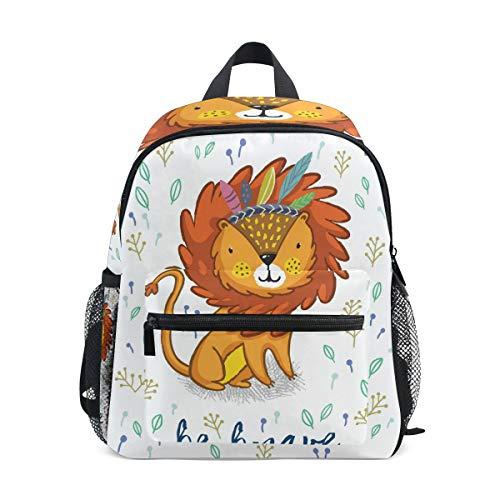 Mini Kinder-Rucksack Daypack niedlicher Löwen-Gemälde Vorschule Kindergarten Kleinkind Tasche für Reisen Mädchen Jungen