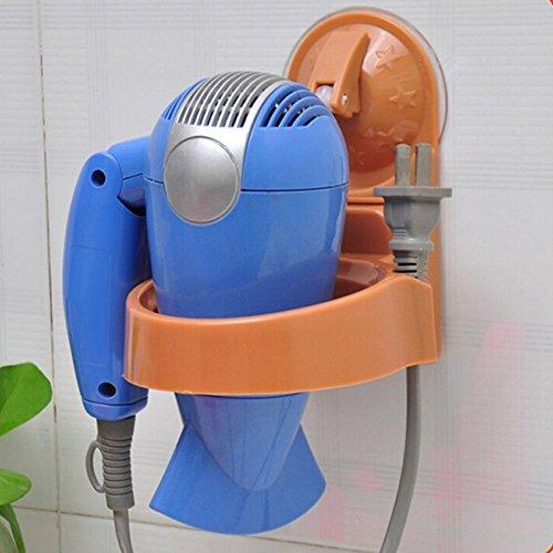 Brussels08 1 support mural à ventouse pour sèche-cheveux avec support pour salle de bain
