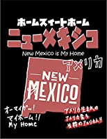 【FOX REPUBLIC】【ニューメキシコ アメリカ 地図】 黒マット紙(フレーム無し)A3サイズ