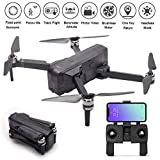 : Foldable 1080P Camera Record Video App Control iOS Android One-Key RTH Follow Me 3D Visual Brushless Motor Track Flight Headless (Black)