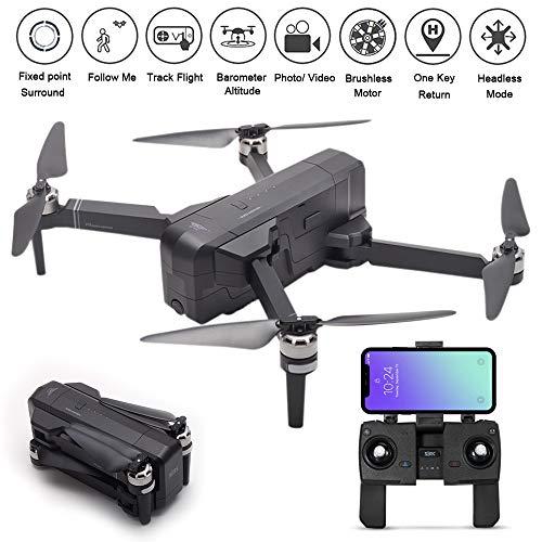 SJRC F11 GPS Drone 5G WiFi FPV Foldable, 1080P Camera, One-Key RTH, Follow Me ,Brushless Motors (Black)