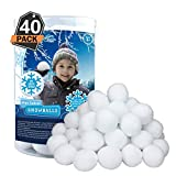 40 Pack Indoor Snowballs for Kids Snow Fight
