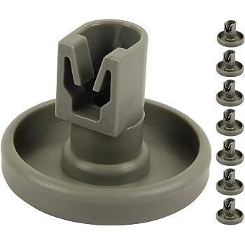 8 x Panier de lave-vaisselle ROUES pour Electrolux Set Complet Bas Inférieur Plateau 40 mm gris