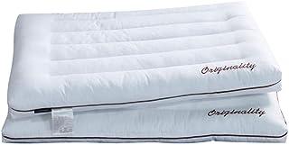 Almohada Suave hipoalergénico de poliéster algodón Almohada Cubierta Densidad Firma Lavable a máquina Bueno for Lateral y Posterior del Durmiente Almohadas para Dormir