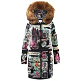 Limsea Womens Coat Quilted Jacket Outwear Parka Winter Long Down Cotton HoodedBrown XXX-Large