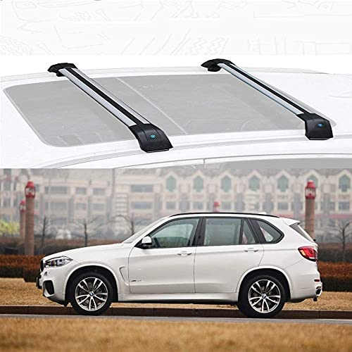 Techos 2 unids/set Ajuste personalizado para B-MW X5 2016 Aleación de aluminio aleación de techo de techo Barras de techo Barras de carga Cargo portador de equipaje Carril Lockable Rack de techo de