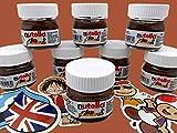 Pack 10 unidades Mini Nutella Ferrero 25gr + Stickers Regalo