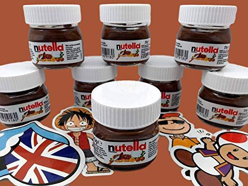 Pack 10 unidades Mini Nutella Ferrero 25gr + Stickers Regalo