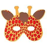 Werbewas 1x Schaumstoff Masken mit Giraffe Tiermotiv - als Karnevals, Halloween, Cosplay, Geburtstags-Party Kostüm