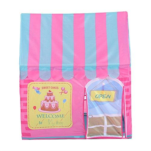 Princess Tent, Pink Castle House Carpa de juego grande Castillo de niñas Casa de juegos portátil para niños Juguetes para niños