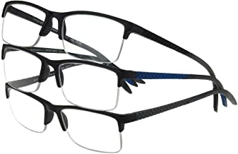 Design Optics by Foster Grant Semi-Rimless Flexible Plastic 3-Reading Glasses (+2.00)