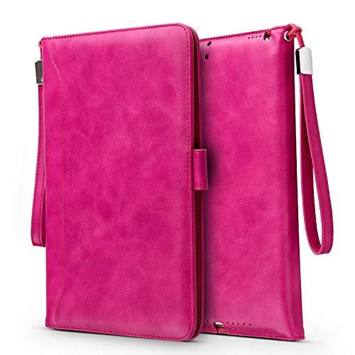 RubyShopUU Hmsunrise Ultra Thin Leather Case for iPad 9.7 2018 Smart Auto Wake/Sleep Cover Book Kickstand A1893 A1954 Storage Bag Card Slot