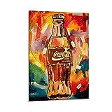 SEMN Coca Cola Art Work Poster Cuadro decorativo Lienzo Arte de Pared Sala de Estar Poster Dormitorio Pinturas 40x60 cm