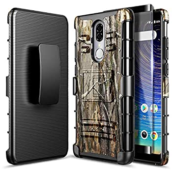 NZND Case for Coolpad Legacy with Tempered Glass Screen Protector  2019 Release 6.36 inch Not Go Version  Belt Clip Holster Heavy Duty Shockproof Kickstand Combo Rugged Phone Case -Camo