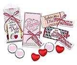 STEINBECK Muttertag Geschenk beste Mama Geschenkset von Herzen Alles Liebe Schokolade Fruchtgummi Schokoherzen süß besonderes Geschenk mit Botschaft beste Mami