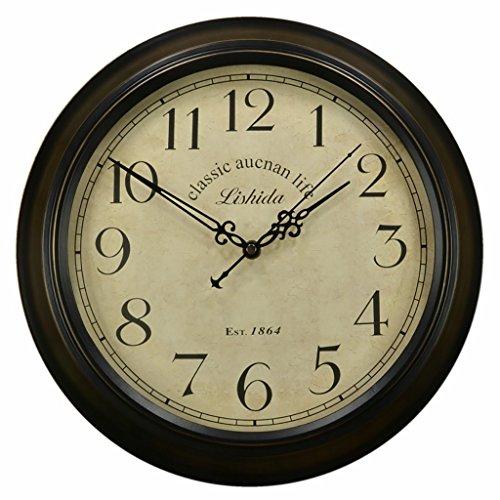 Bonne action Horloge murale Horloge Murale Rétro De Style Européen Salon Horloge Murale Quiet Jane Européenne Horloge Murale Antique Horloge Nordic Nostalgique ( Couleur : 16 inches/40.5cm )