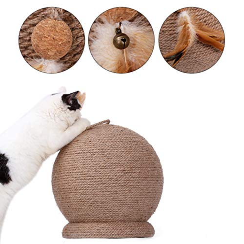 QBYLYF Cat Posts Scratchers Scratching Pads Large Cat Scratch Board Toy Round Sisal Cat Grab Column Table Grinding Claw Grinding Material