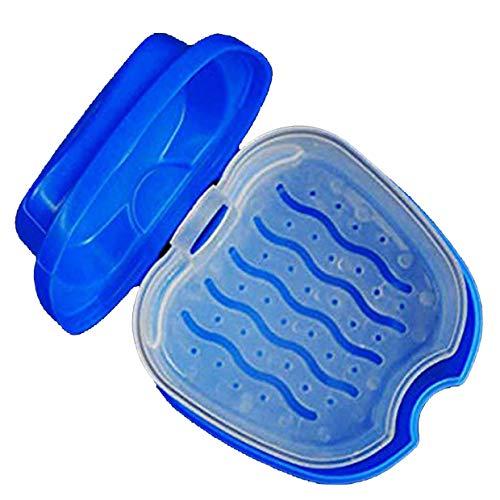 Caja de Almacenamiento de plástico MXECO Conveniente Caja de baño de dentadura Caja de Almacenamiento de Dientes Falsos dentales con contenedor de Red Colgante