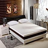 ST Starcast 3 Inch Memory Foam Mattress Topper Queen Size, Gel-Infused Cooling Bed Topper with Removable & Washable Bamboo Fiber Cover, Zipper Closure