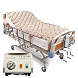 Livefine Dual Mode Pressure Alternating Mattress Pad – Inflatable Bed Air Topper with Quiet Electric Pump System – Medical Grade for Pressure Ulcer & Sore Treatment – Fits Standard Size Hospital Bed