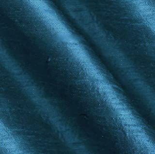 Angus International Dupioni Silk Fabric Iridescent Blue, Teal