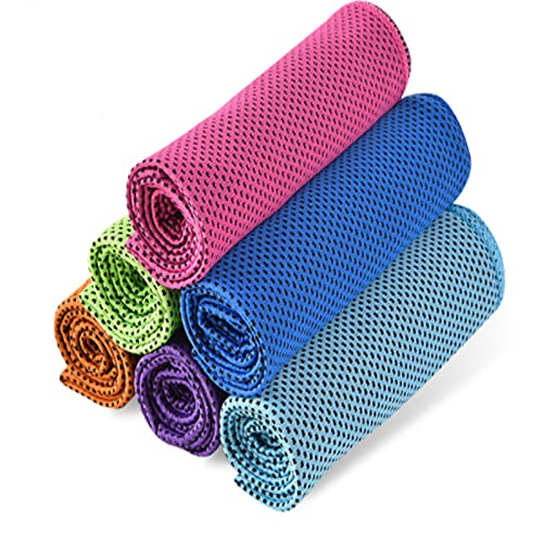 6 Piezas,Toalla Gym,Toallas de Microfibra,Toallas Secado Rápido para Deportes,Toalla De Enfriamiento,para Corredores de Fitness y Ciclismo, Deportes,Tenis, Bolos, Golf, Yoga, Senderismo, montañismo