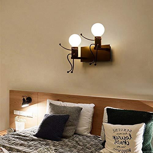 LFK Creative Personality - Lámpara de pared para habitación de los niños, para sala de estar, dormitorio, mesita de noche, lámpara de araña