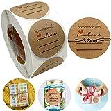 500 Etiketten Marmelade,38mm selbstklebende Etiketten zum Beschriften,Ablösbare Papieraufkleber...