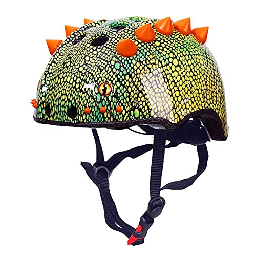 Cycle Helmets Kids, 3D Dinosaur Modeling Kids Bike Helmet, Youth Sports Cycling Skateboard Roller Skating Balance Bike Bicycle Helmet Adjustable,S50~53CM