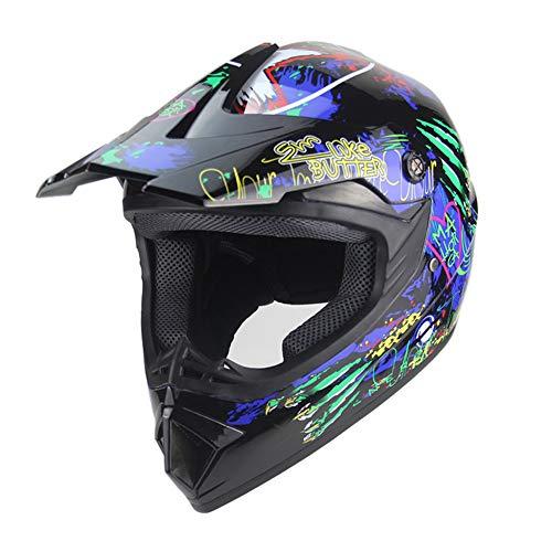 MOTUO Casco de moto para hombre y mujer, ABS con capa amortiguadora, forro para Moto Enduro, S