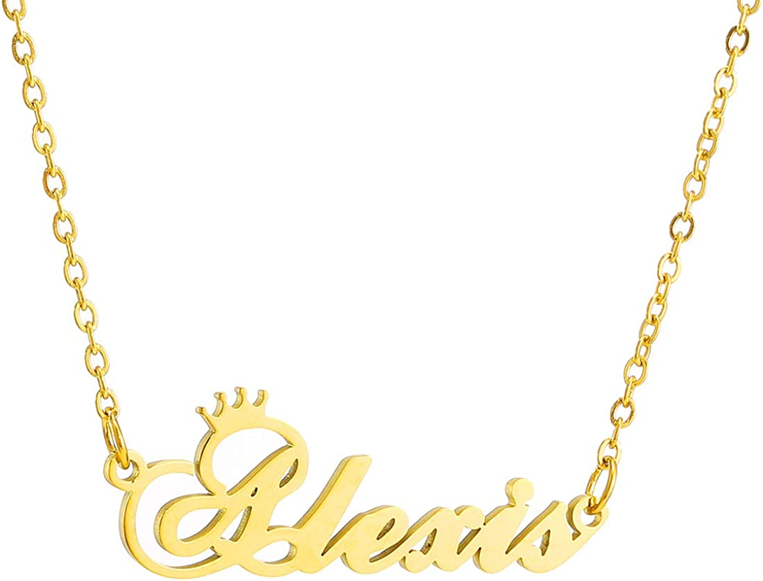 RWQIAN Name Necklace Personalized for Memphis Mall Custom - Super popular specialty store Wom