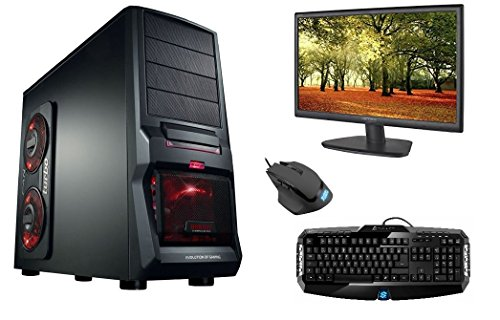 Komplett-PC Gaming-PC Six-Core AMD FX-6300 6x3.5GHz (Turbo bis 4.1GHz) , Samsung S22D300H 54,61 cm (22 Zoll) PC-Monitor , Sharkoon Skiller Gaming Tastatur , Sharkoon Shark Force Gaming Maus , Windows 10 Pro 64bit , GeForce GTX750ti, 1TB HDD , 120GB SSD , 8GB RAM , WLAN 300MBit , All-In-One Kartenleser , Multimedia Rechner