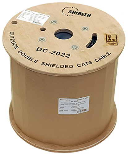 trend shipfree rank Outdoor Double Shielded Cat6 Spool DC-2022 Shireen 1000ft