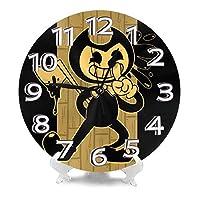 ベンディとインクマシン 柱時計,北欧 おしゃれ 円形掛け時計, 連続秒針掛け時計 静音 部屋装飾壁時計, インテリア 置き時計, 時計 壁掛け寝室 店舗 家 部屋装飾 簡単 贈り物 アラビア数字壁掛け時計, シンプル おしゃれ丸い 壁時計
