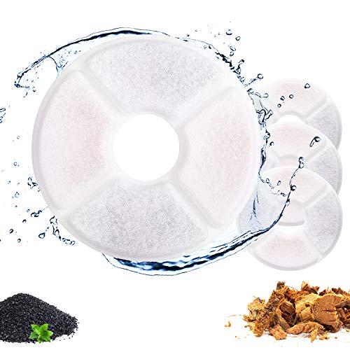 Ersatzfilter für Katzenbrunnen, gesunde und hygienische Filter für Haustier Wasserspender. (4 Packs)
