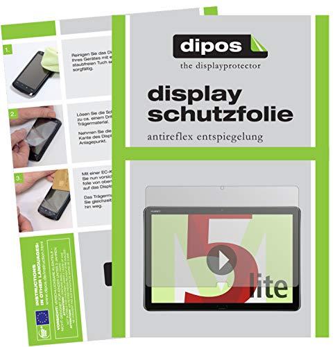dipos I 2X Schutzfolie matt kompatibel mit Huawei MediaPad M5 Lite Folie Bildschirmschutzfolie