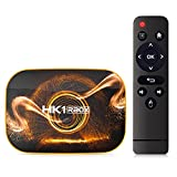 SSRSHDZW TV Box Network Android 10.0 RK3318 HD Reproductor de Red Dual Banda WiF 2.4G / 5G Home Media Player Dual Band & Voice Remote Control,4gb+64gb
