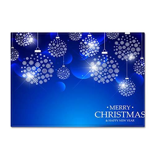 DRTWE Soft Velvet 3D X-Mas Elemento impresión Alfombra Alegre patrón Carta de Navidad Antideslizante niños juegan Alfombra Moderna Sala de Estar Cama Piso Pad casa decoración,40 * 60cm