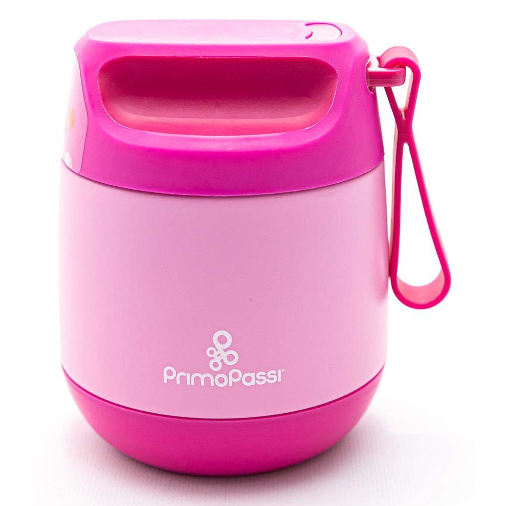 Primo Passi Insulated Food Jar - 12 oz/350ml - Pink | Baby Insulated Food Container
