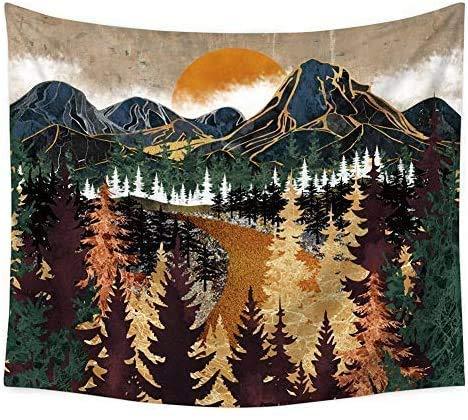 Tapisserie Murales Soleil Et Lune Tenture Murale Mandala Indien Bohème Hippie Couverture Décoration Murale pour Chambre Salon Serviette de Plage (Coloré, 150x130CM)