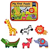 KUNEN My First Animal Puzzles 6-In-A-Box! Rompecabezas Juguetes Juguetes educativos para niños 2+
