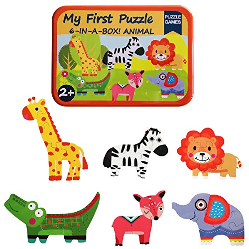KUNEN My First Animal Puzzles 6-In-A-Box! Rompecabezas