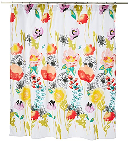 Greenland Home Watercolor Dream Shower Curtain, 72 x 72-inch, White
