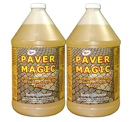 Paver Magic - High Power Concrete, Brick and Paver Cleaner-2 gallon case